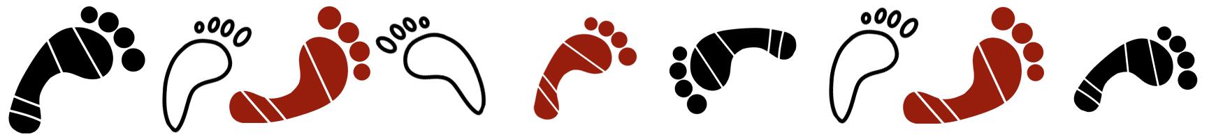 Illustration - Fußspuren