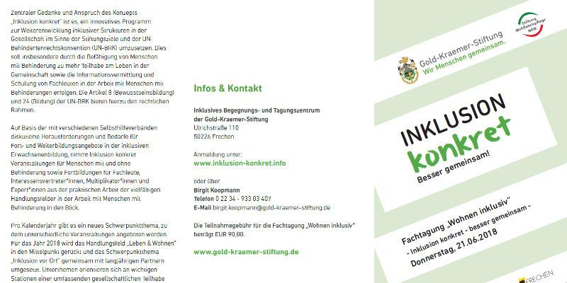 """Flyer des Fachtags """"Wohnen"""""""