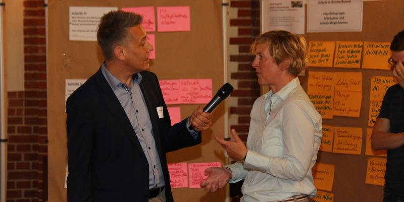 Marlene Seifert im Gespräch mit Stefan Burkhardt.